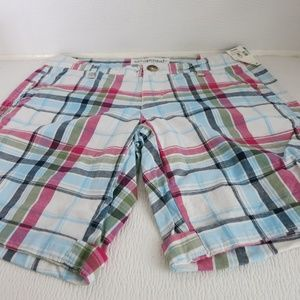 Aeropostale Stretch Checked Colorful Shorts Hot
